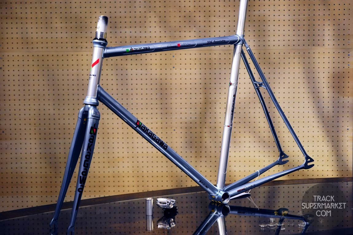 Nakagawa - Light Blue/Silver - 55.5 cm - Carbon/Steel Hybrid Track Frame - 30th anniversary