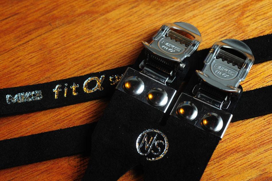 MKS Fit-Alpha Double Pedal Straps - Black (NJS)