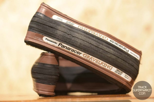 Panaracer - Gravel King - Clincher Tire 23c 700c - Black w/Brown Sidewall