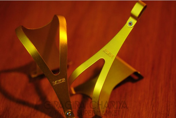 MKS Gold Aluminum Track Pedal Toe Clips