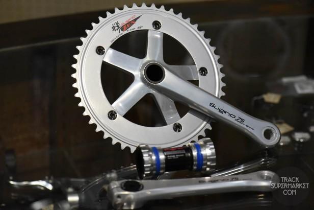 Sugino 75 DD Track Racing Crank Set - Direct Drive - Silver