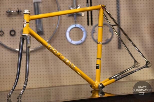 Tony Dash - Yellow w/ Chrome - 52 cm - Vintage Track Frame