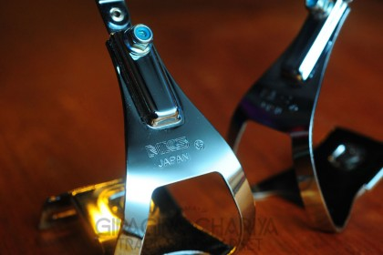 MKS Track Pedal Adjustable Toe Clips - Chrome (NJS)