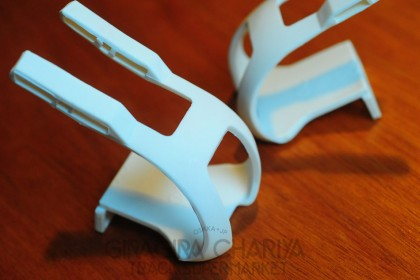 Starfuckers Double Strap Track Pedal Toe Clips - White