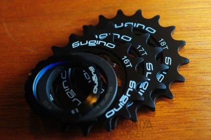 Sugino Track Cog 16t, 17t, 18t Set - Black