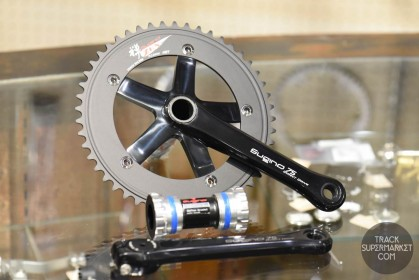 Sugino 75 DD Track Racing Crank Set - Direct Drive - Black