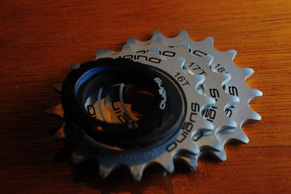 Sugino Track Cog 16t, 17t, 18t Set - Silver