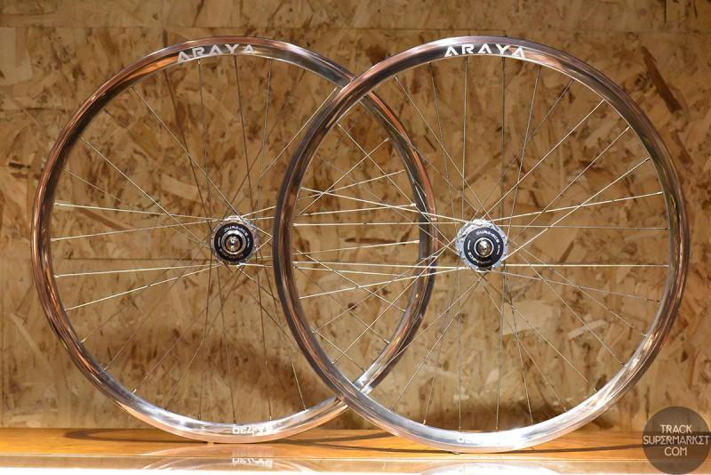 Araya SA-730 x HB7600 Track Bike Complete Wheel Set - Pair (Front/Rear)
