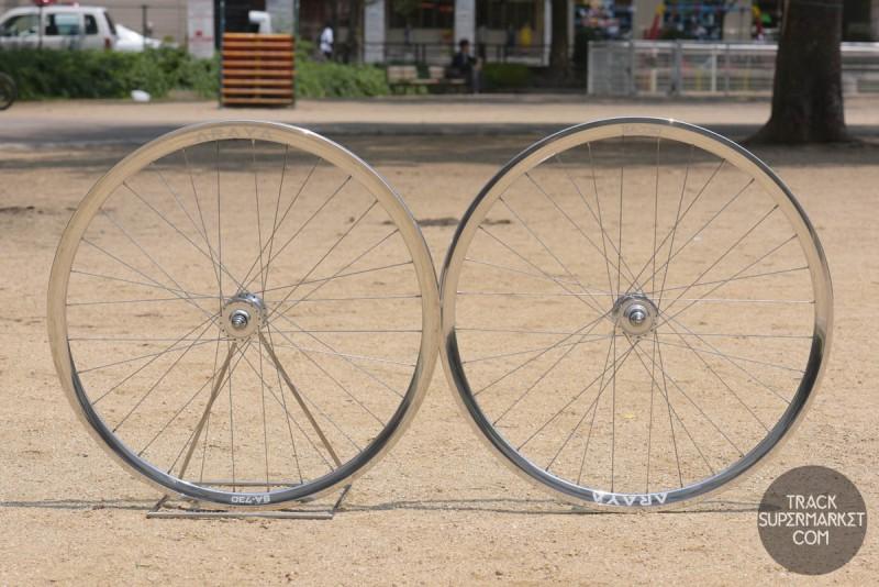 Araya SA-730 Track Bike Complete Wheel Set - Pair Front/Rear