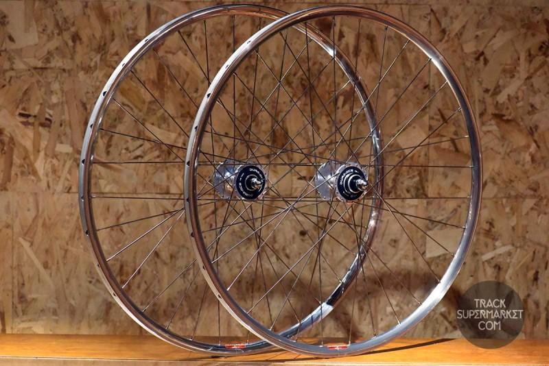 Araya Aero 2 Track Bike Complete Wheel Set - Pair (Front/Rear)