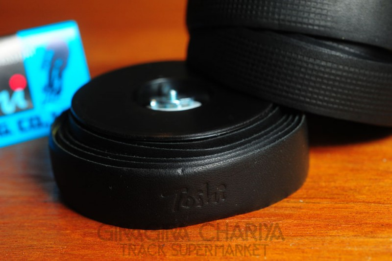 Toshi Leather Bar Tape - Black