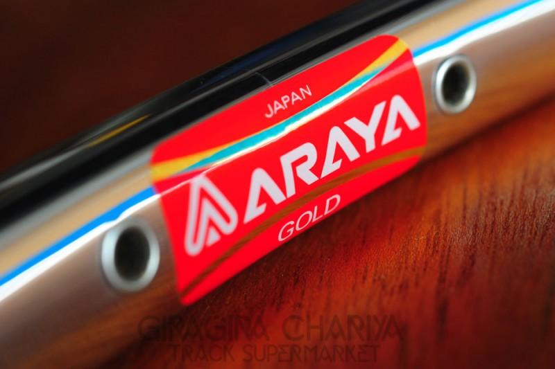 Araya 16B Gold Keirin Track Rim - 36 Hole (NJS)