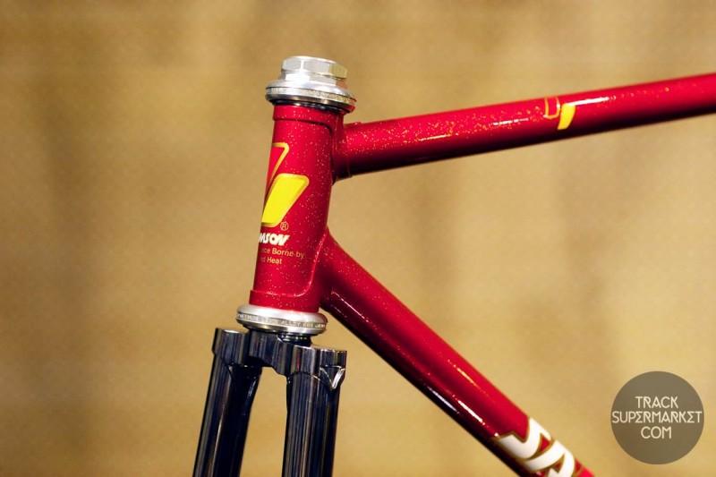 Samson - Red w/ Gold Flake - 50.5 cm - NJS Track Frame