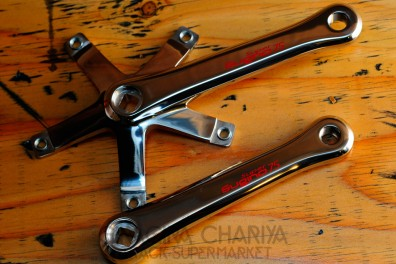 Sugino Super 75 S-Cubic Track Crank Set - Silver